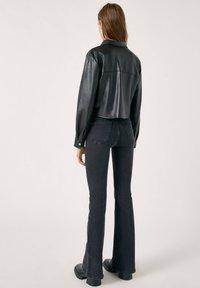PULL&BEAR - Faux leather jacket - mottled black - 2