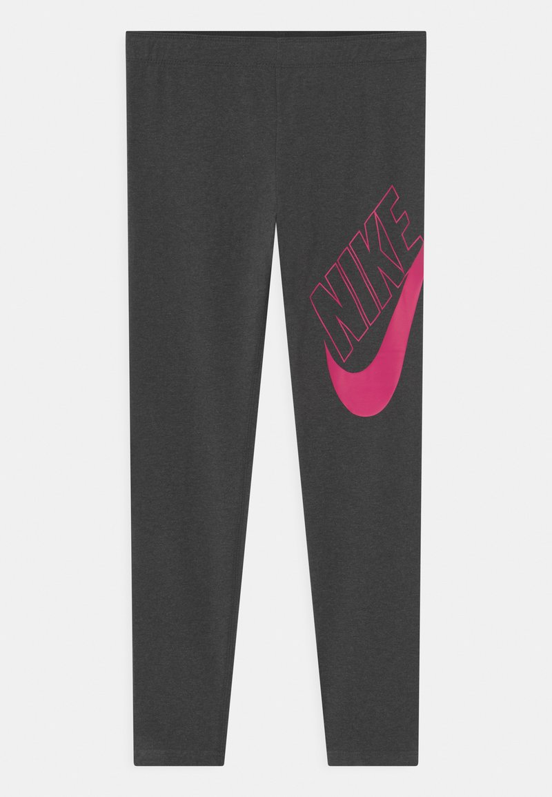 Nike Sportswear - FAVORITES - Legging - black heather/fireberry