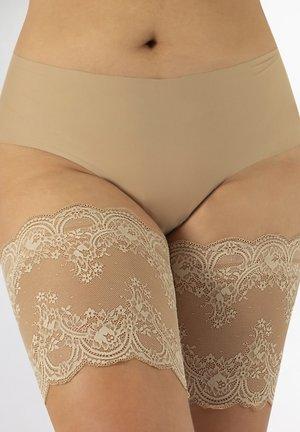 ANTI-CHAFING LACE BANDS - GEOMETRIC PATTERN - Leg warmers - nude