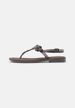 T-bar sandals - pewter glam