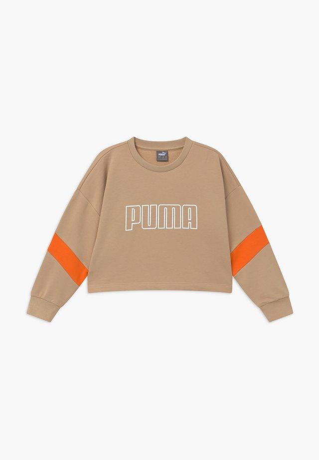 PUMA X ZALANDO GIRLS CREW - Sweatshirt - sesame