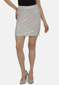 myMo at night - Mini skirt - weiss - 0