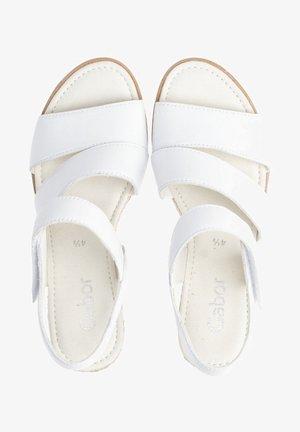 Wedge sandals - weiãÿ