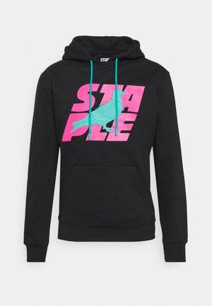 STACKED LOGO HOODIE - Sweatshirt - black
