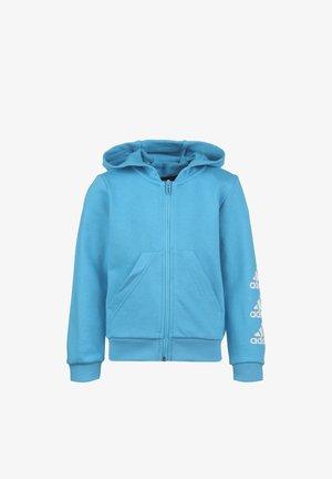 MUST HAVES BADGE OF SPORT - Zip-up hoodie - bright cyan / white