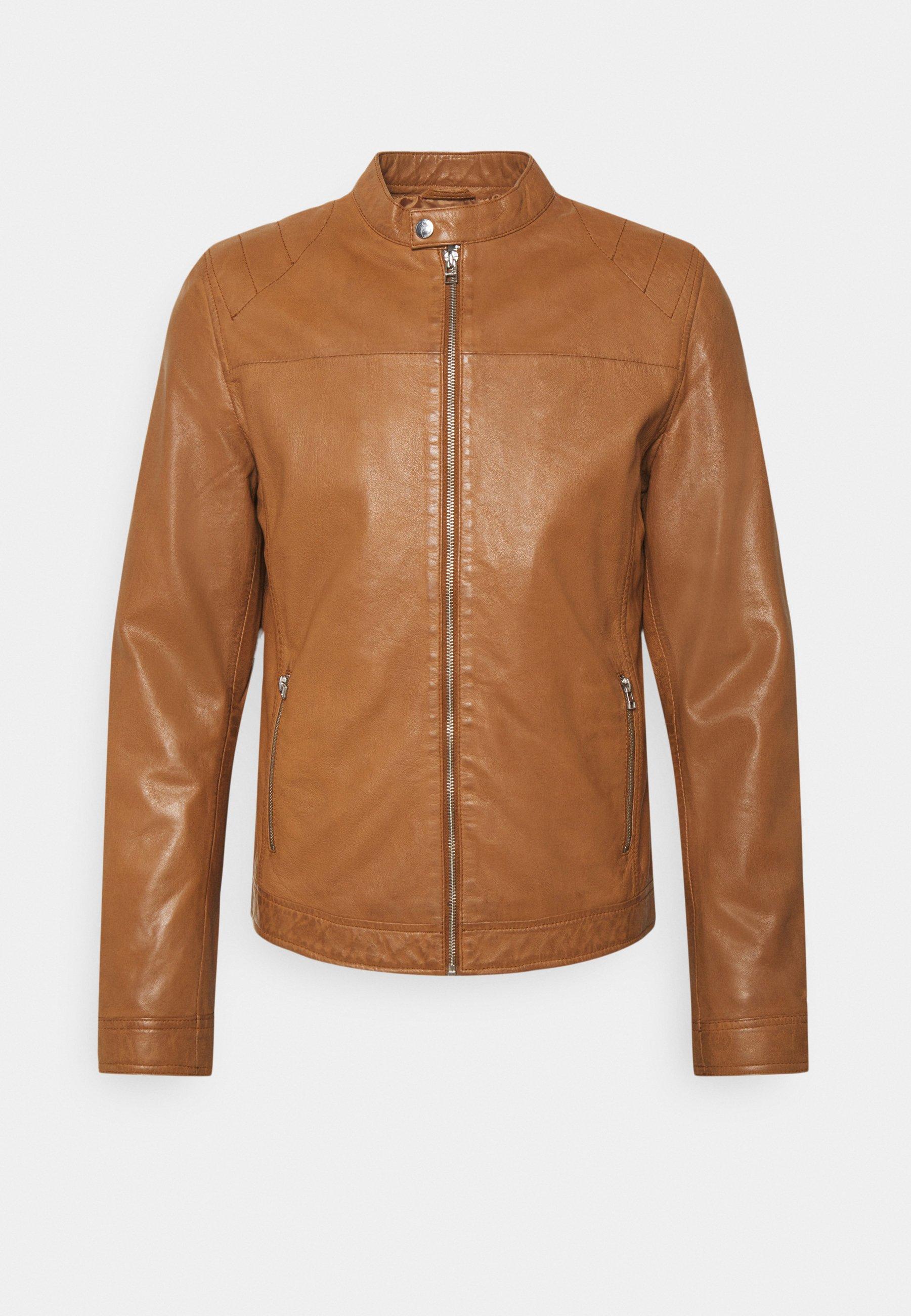 Men ROSSTOCK BIKER - Leather jacket