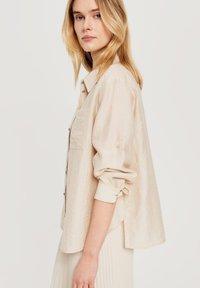 Opus - Button-down blouse - beige - 2