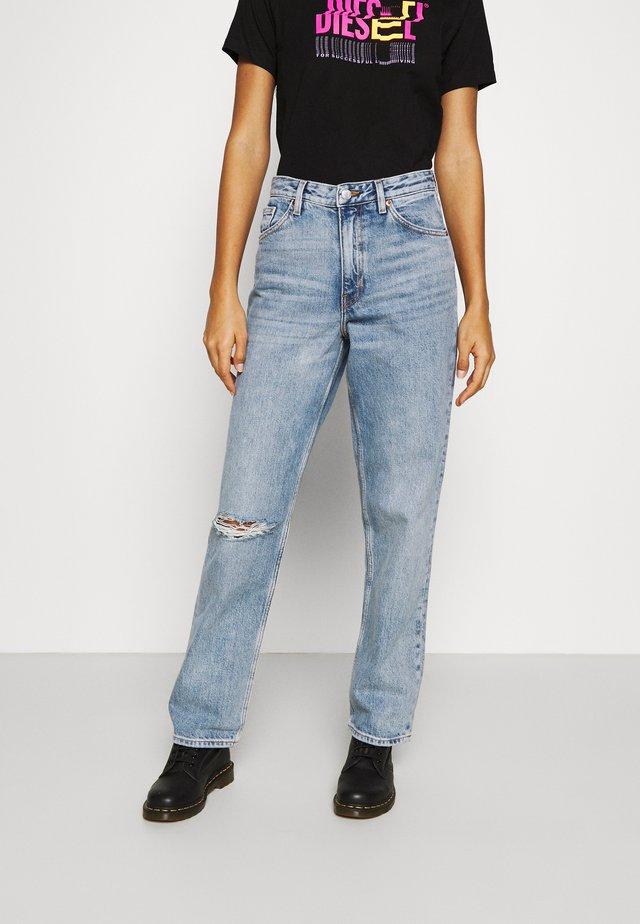 TAIKI STRAIGHT LEG DISTRESSED - Jeans straight leg - blue medium dusty