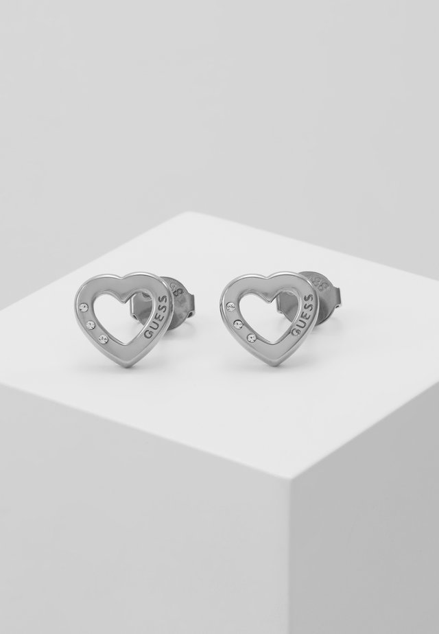 HEARTED CHAIN - Orecchini - silver-coloured