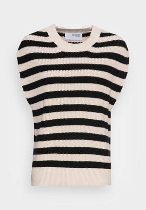SLFPALMA VEST O NECK  - Pullover - black