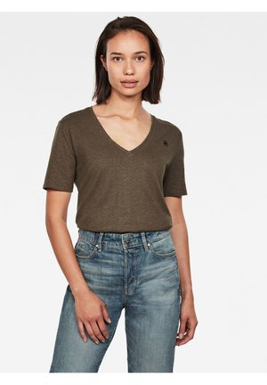OVVELA - Basic T-shirt - dk smoke green