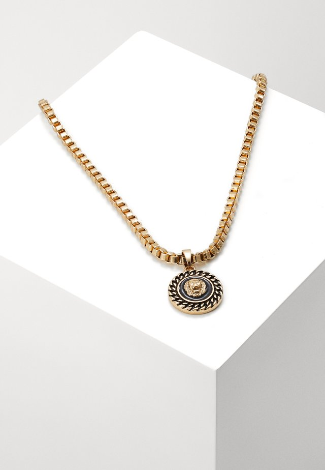 CHAIN AND LION HEAD NECKLACE - Ketting - gold-coloured