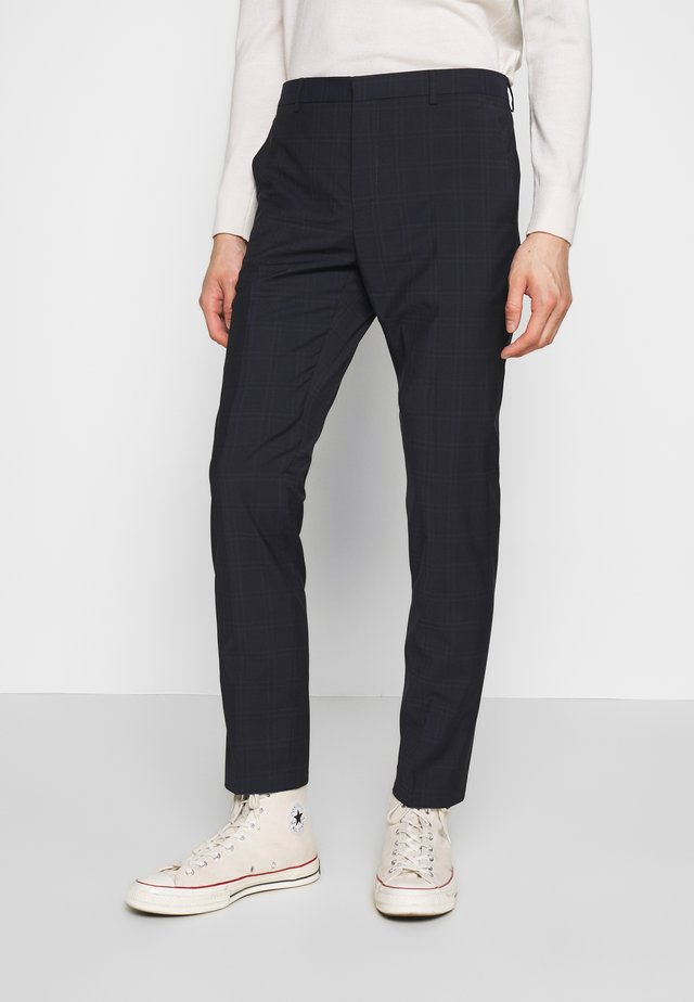 WINDOW CHECK SLIM PANTS - Pantalon classique - blue