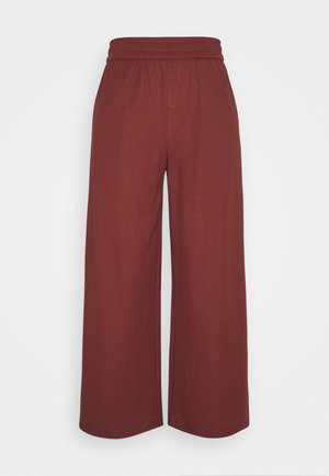 ONLNAIRI CECILY WIDE PANT - Trousers - pomegranate