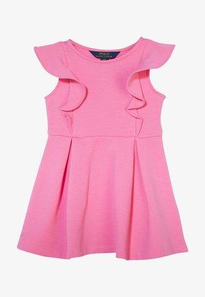 PONTE RUFFLE DRESSES - Denní šaty - baja pink