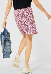 Street One - ROCK MIT PRINT - A-line skirt - rot - 2