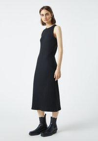PULL&BEAR - Jumper dress - mottled black - 1