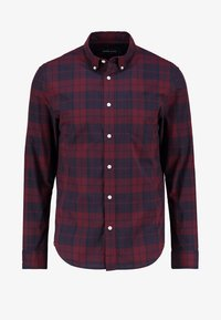 Pier One - Shirt - dark blue/bordeaux - 5