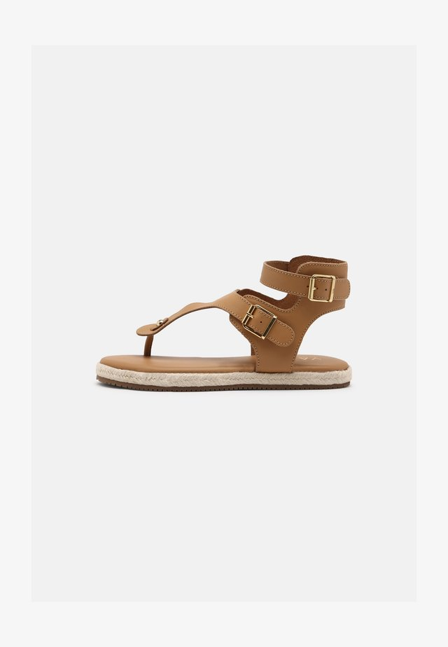 YASRAFFA - T-bar sandals - biscuit