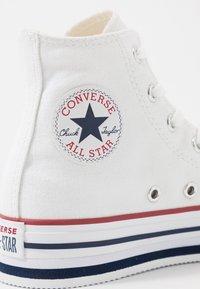 Converse - CHUCK TAYLOR ALL STAR PLATFORM EVA - Sneakers alte - white/midnght navy/garnet - 2