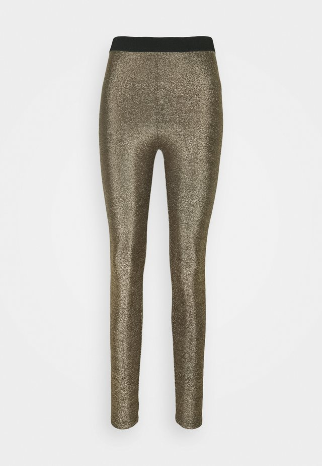 CRMINU - Leggings - Trousers - gold lurex