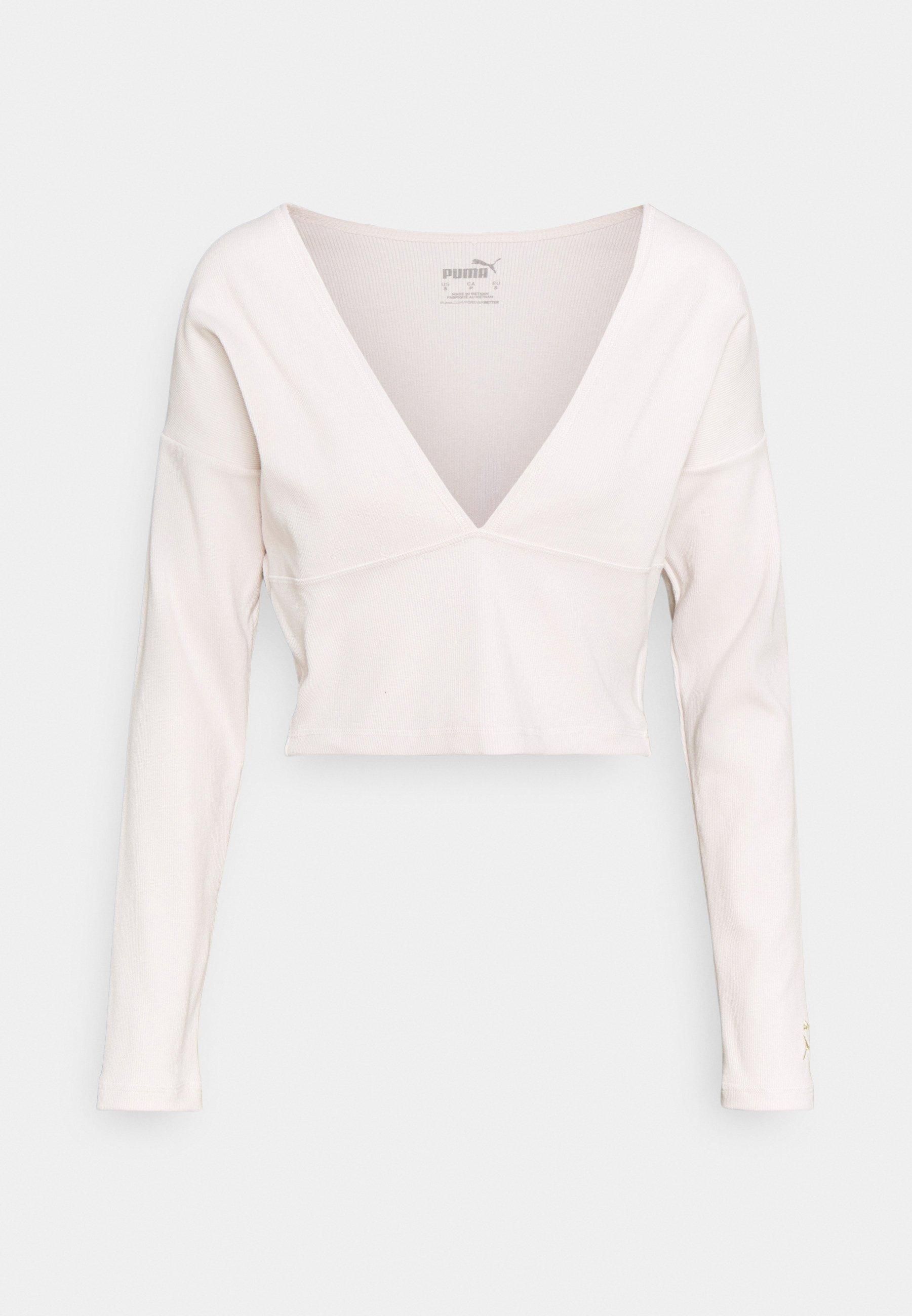 Femme EXHALE V FRONT LONG SLEEVE - T-shirt à manches longues
