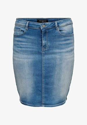 Pencil skirt - medium blue denim