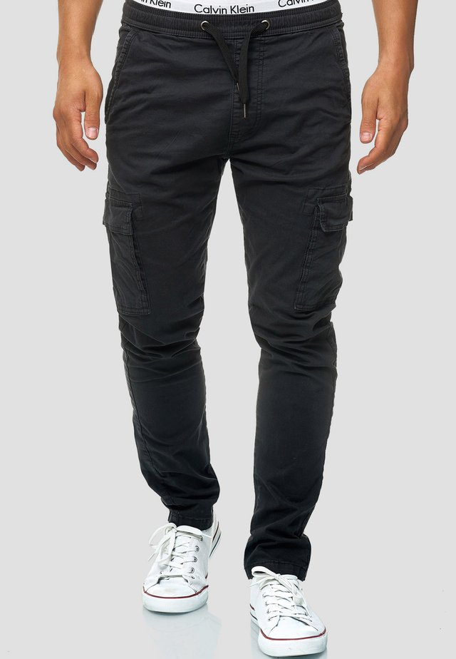 BROADWICK - Pantalon cargo - black