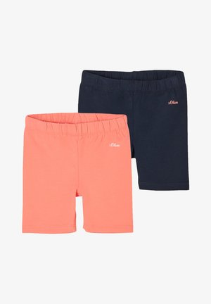 2 PACK - Shorts - coral/navy