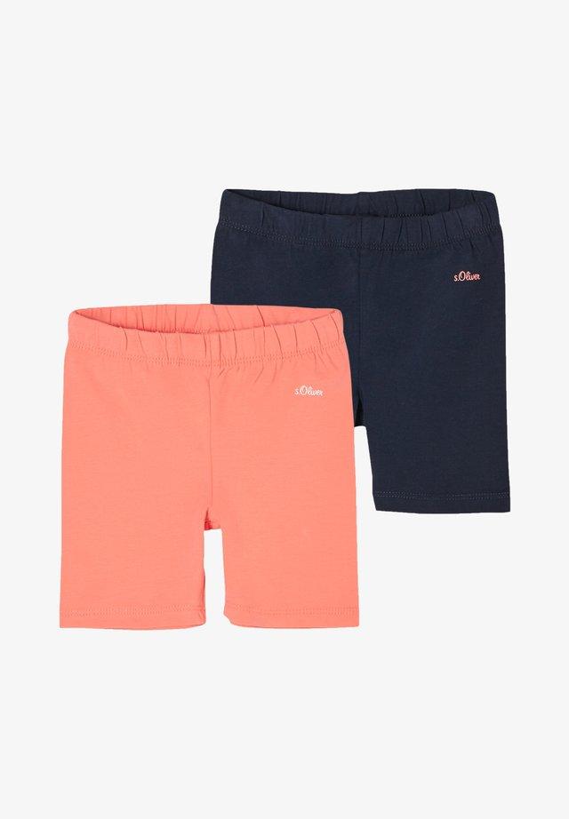 2 PACK - Shorts - coral/navy