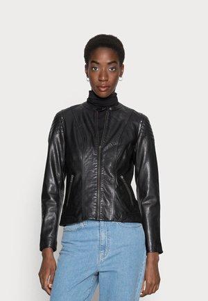CLIM - Leather jacket - black