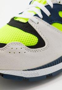 Saucony - AZURA - Sneakers laag - white/citron/denim - 5