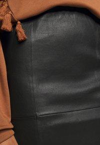 By Malene Birger - FLORIDIA - Leather skirt - black - 4
