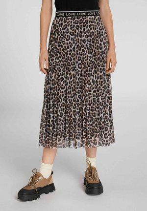 A-line skirt - dark camel grey