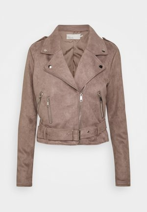 BIKER JACKET - Faux leather jacket - brown