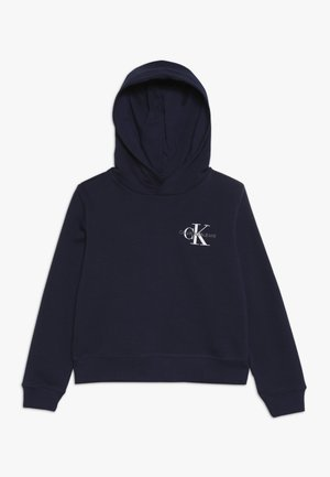 SMALL MONOGRAM BOXY HOODIE - Sweat à capuche - blue
