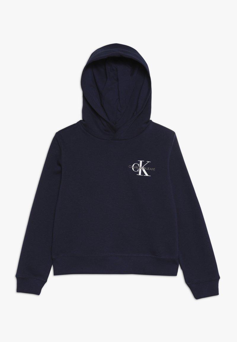 Calvin Klein Jeans - SMALL MONOGRAM BOXY HOODIE - Hoodie - blue