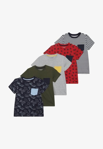 5 PACK  - T-shirt con stampa - khaki