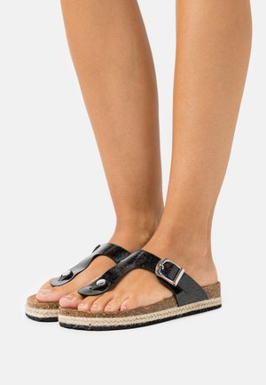 FLEETWOOD TPOST - T-bar sandals - black
