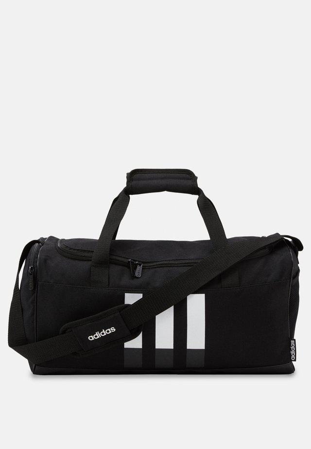 ESSENTIALS 3 STRIPES SPORTS DUFFEL BAG UNISEX - Sportstasker - black/black/white