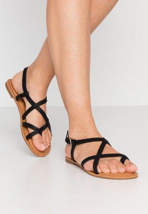 RIBISI - Sandály s odděleným palcem - black