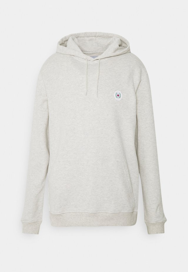 OUR SHAXY PATCH HOOD - Hoodie - snow melange