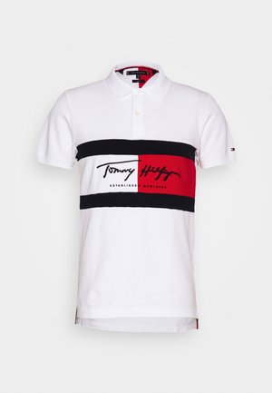 AUTOGRAPH FLAG SLIM FIT - Polotričko - white