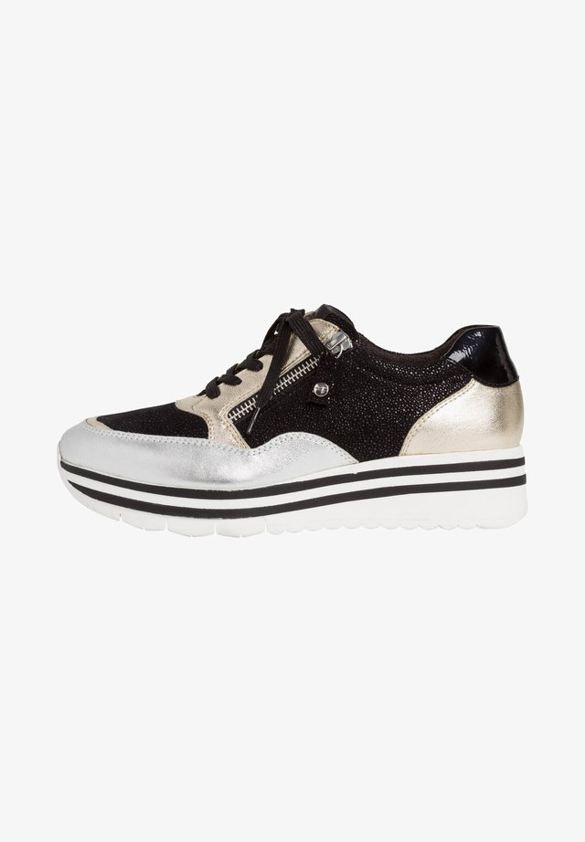LACE UP - Sneaker low - black comb
