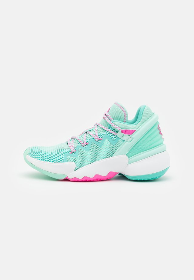 D.O.N. ISSUE 2 UNISEX - Basketball shoes - clear mint/acid mint/scream pink