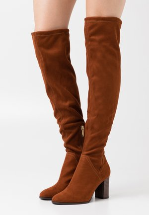 Over-the-knee boots - brandy