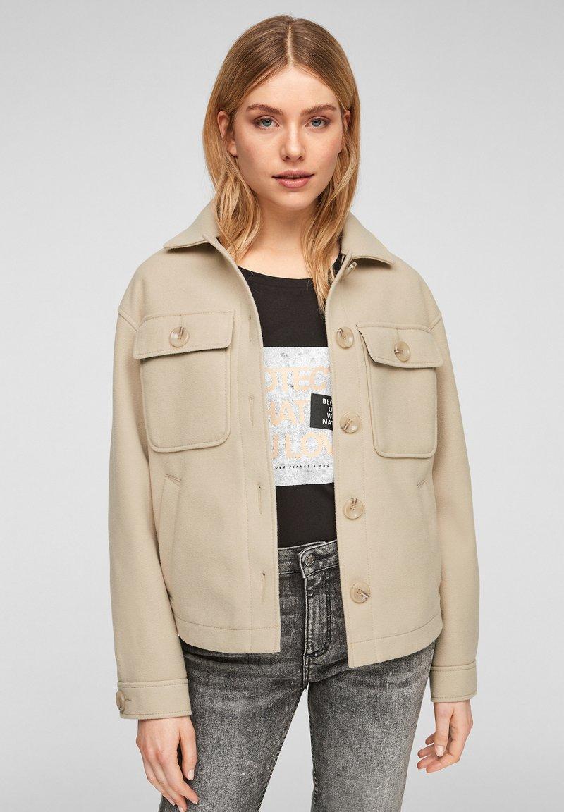 Q/S designed by - Summer jacket - beige