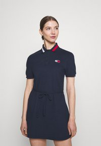 Tommy Jeans - FLARED FLAG DRESS - Day dress - twilight navy - 0