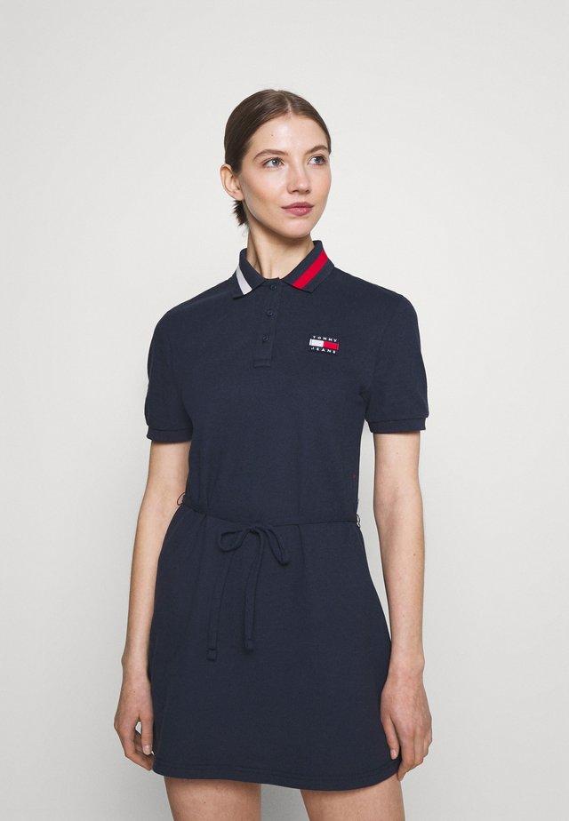 FLARED FLAG DRESS - Korte jurk - twilight navy