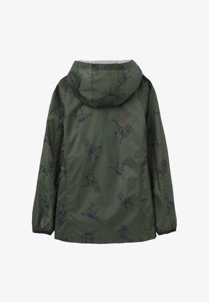 Waterproof jacket - grüne dinos